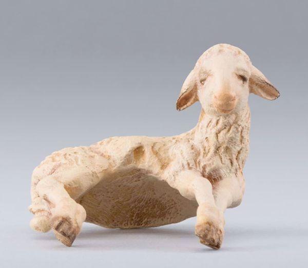 Imagen de Cordero de hombro cm 20 (7,9 inch) Belén para vestir Homobono de madera y cobre