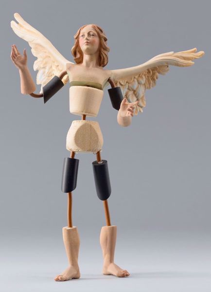 Picture of Angel Code08 cm 20 (7,9 inch) DIY undressed Homobonus Nativity in wood and copper