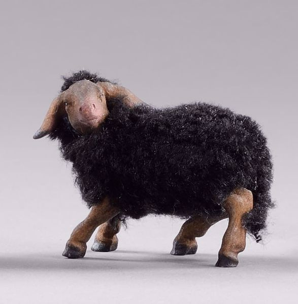 Immagine di Agnello con lana cm 20 (7,9 inch) Presepe da vestire Omobono in legno e rame