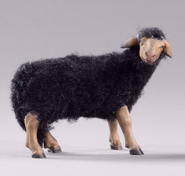 Picture of Sheep with wool cm 20 (7,9 inch) DIY undressed Homobonus Nativity in wood and copper