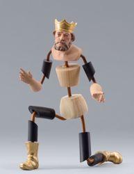Imagen de Maniquí Cód.04 cm 20 (7,9 inch) Belén para vestir Homobono de madera y cobre