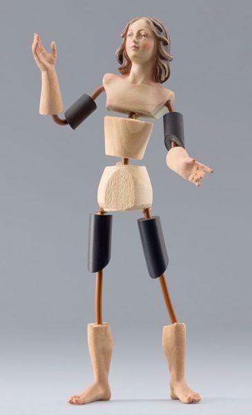 Imagen de Maniquí Cód.08 cm 20 (7,9 inch) Belén para vestir Homobono de madera y cobre