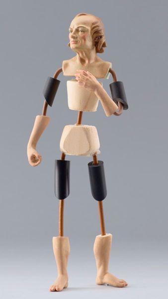 Immagine di Manichino Cod.12 cm 20 (7,9 inch) Presepe da vestire Omobono in legno e rame