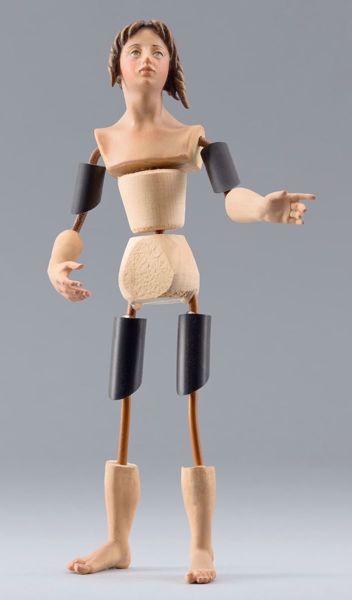 Imagen de Maniquí Cód.25 cm 20 (7,9 inch) Belén para vestir Homobono de madera y cobre
