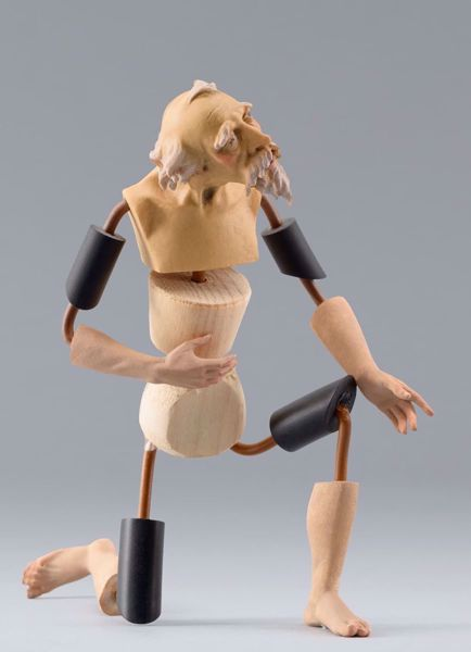 Picture of Figure Code30W cm 20 (7,9 inch) DIY undressed Homobonus Nativity in wood and copper