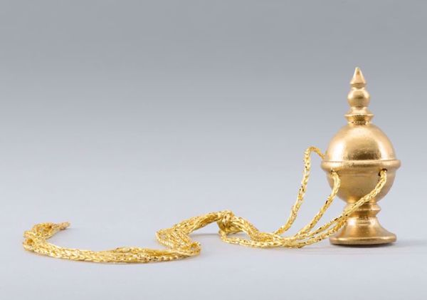 Picture of Censer cm 14 (5,5 inch) DIY undressed Homobonus Nativity in wood and copper