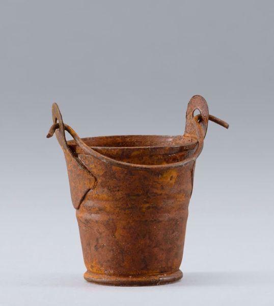 Imagen de Cubo cm 14 (5,5 inch) Belén para vestir Homobono de madera y cobre