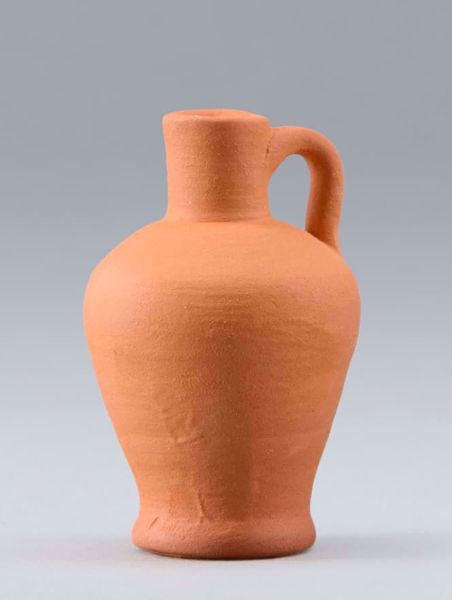 Picture of Clay Pitcher cm 14 (5,5 inch) DIY undressed Homobonus Nativity in wood and copper