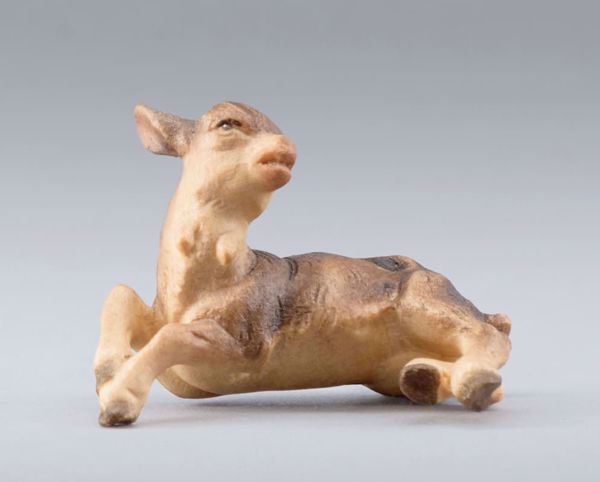Picture of Little Goat to be carried cm 14 (5,5 inch) DIY undressed Homobonus Nativity in wood and copper