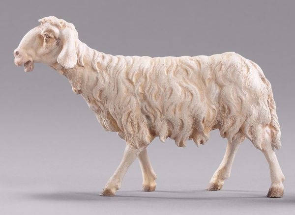 Picture of Sheep walking cm 14 (5,5 inch) DIY undressed Homobonus Nativity in wood and copper