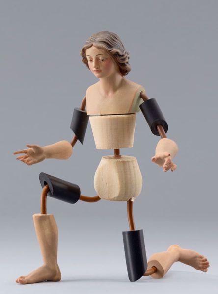 Imagen de Maniquí Cód.02 cm 14 (5,5 inch) Belén para vestir Homobono de madera y cobre