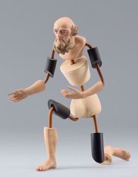 Picture of Figure Code10 cm 14 (5,5 inch) DIY undressed Homobonus Nativity in wood and copper