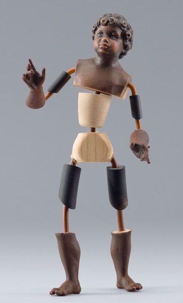 Imagen de Maniquí Cód.11 cm 14 (5,5 inch) Belén para vestir Homobono de madera y cobre