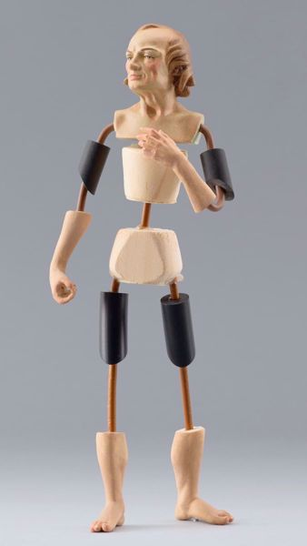 Imagen de Maniquí Cód.12 cm 14 (5,5 inch) Belén para vestir Homobono de madera y cobre