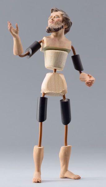 Imagen de Maniquí Cód.14 cm 14 (5,5 inch) Belén para vestir Homobono de madera y cobre