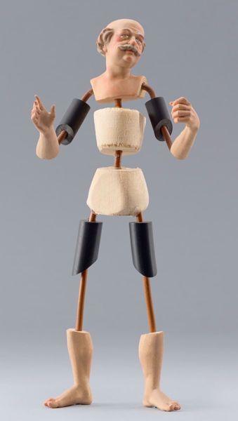 Immagine di Manichino Cod.16 cm 14 (5,5 inch) Presepe da vestire Omobono in legno e rame