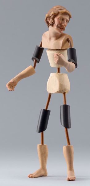 Picture of Figure Code19 cm 14 (5,5 inch) DIY undressed Homobonus Nativity in wood and copper