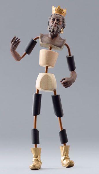 Imagen de Maniquí Cód.22 cm 14 (5,5 inch) Belén para vestir Homobono de madera y cobre
