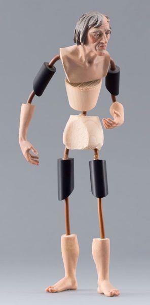 Imagen de Maniquí Cód.24 cm 14 (5,5 inch) Belén para vestir Homobono de madera y cobre