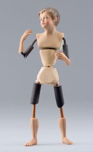 Imagen de Maniquí Cód.26 cm 14 (5,5 inch) Belén para vestir Homobono de madera y cobre
