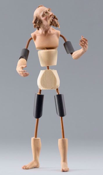 Picture of Figure Code30 cm 14 (5,5 inch) DIY undressed Homobonus Nativity in wood and copper