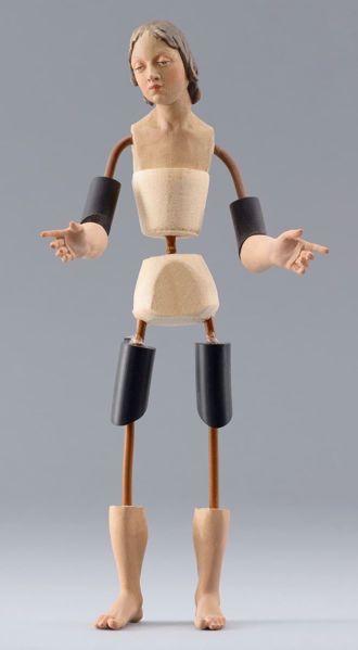 Imagen de Maniquí Cód.46 cm 14 (5,5 inch) Belén para vestir Homobono de madera y cobre