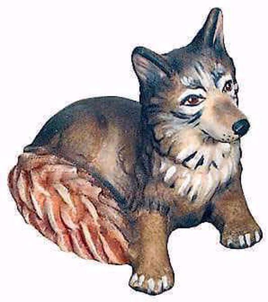 Immagine di Volpe cm 6 (2,4 inch) Presepe Matteo stile orientale colori ad olio in legno Val Gardena