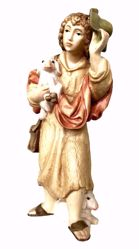 Picture of Shepherd with Sheep and Hat cm 6 (2,4 inch) Matteo Nativity Scene Oriental style oil colours Val Gardena wood
