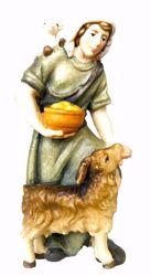 Picture of Shepherd cm 6 (2,4 inch) Matteo Nativity Scene Oriental style oil colours Val Gardena wood