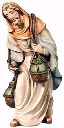 Picture of Shepherd with Water Jugs cm 6 (2,4 inch) Matteo Nativity Scene Oriental style oil colours Val Gardena wood