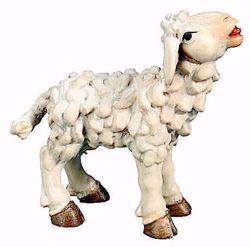 Picture of Lamb cm 8 (3,1 inch) Matteo Nativity Scene Oriental style oil colours Val Gardena wood