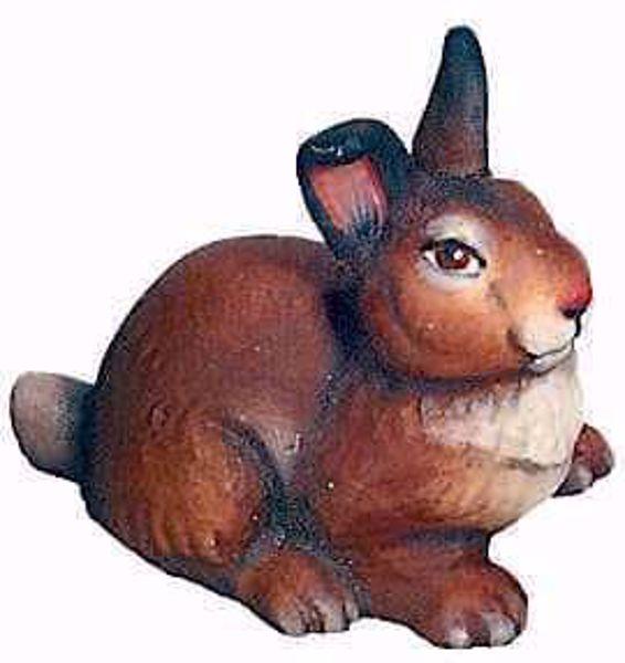 Imagen de Conejo cm 8 (3,1 inch) Belén Matteo estilo oriental colores al óleo en madera Val Gardena