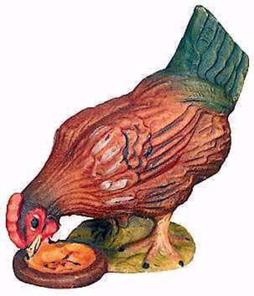 Imagen de Gallina cm 8 (3,1 inch) Belén Matteo estilo oriental colores al óleo en madera Val Gardena