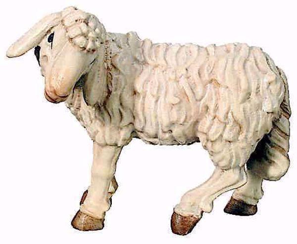 Imagen de Oveja de pie cm 8 (3,1 inch) Belén Matteo estilo oriental colores al óleo en madera Val Gardena
