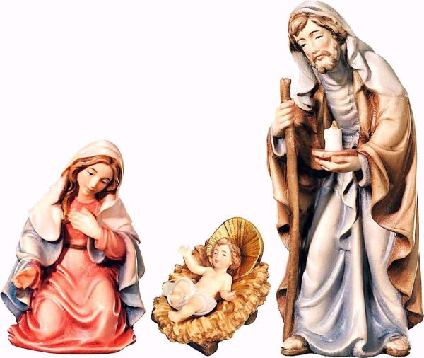 Picture of Holy Family cm 8 (3,1 inch) Matteo Nativity Scene Oriental style oil colours Val Gardena wood