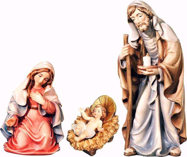 Imagen de Sagrada Familia cm 8 (3,1 inch) Belén Matteo estilo oriental colores al óleo en madera Val Gardena