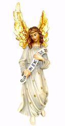 Picture of Angel Gloria cm 56 (22,0 inch) Matteo Nativity Scene Oriental style oil colours Val Gardena wood