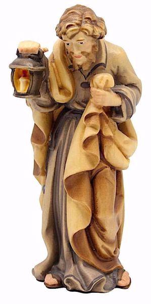 Immagine di San Giuseppe cm 28 (11,0 inch) Presepe Matteo stile orientale colori ad olio in legno Val Gardena