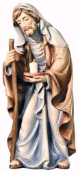 Picture of St. Joseph cm 28 (11,0 inch) Matteo Nativity Scene Oriental style oil colours Val Gardena wood