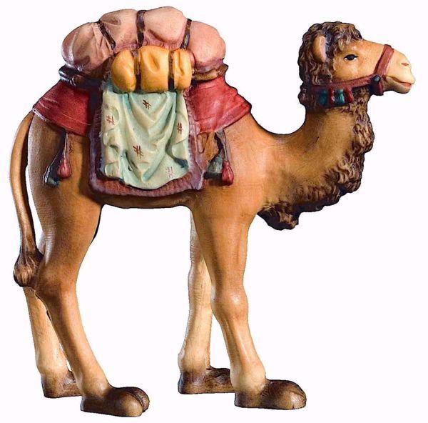 Immagine di Cammello cm 18 (7,1 inch) Presepe Matteo stile orientale colori ad olio in legno Val Gardena