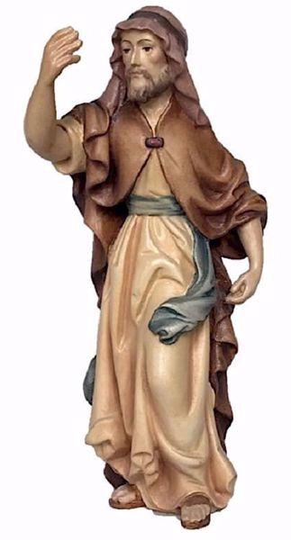 Immagine di Cammelliere cm 18 (7,1 inch) Presepe Matteo stile orientale colori ad olio in legno Val Gardena