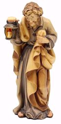 Picture of St. Joseph cm 18 (7,1 inch) Matteo Nativity Scene Oriental style oil colours Val Gardena wood