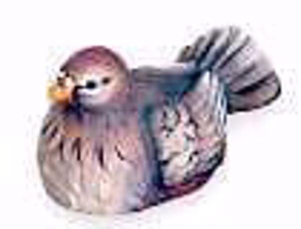 Immagine di Colomba cm 10 (3,9 inch) Presepe Matteo stile orientale colori ad olio in legno Val Gardena