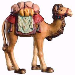 Immagine di Cammello cm 10 (3,9 inch) Presepe Matteo stile orientale colori ad olio in legno Val Gardena