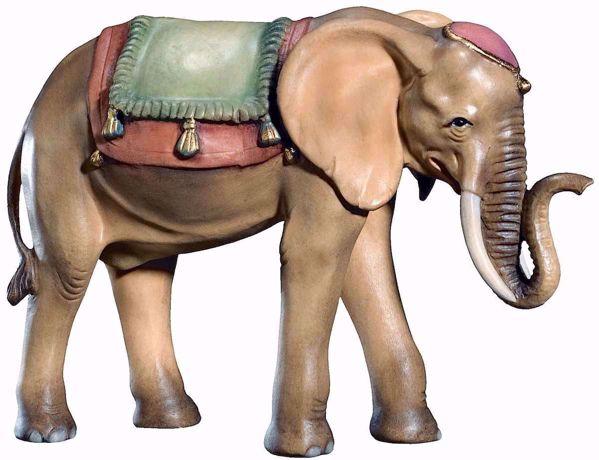 Immagine di Elefante cm 10 (3,9 inch) Presepe Matteo stile orientale colori ad olio in legno Val Gardena