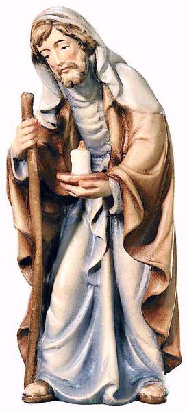 Immagine di San Giuseppe cm 10 (3,9 inch) Presepe Matteo stile orientale colori ad olio in legno Val Gardena