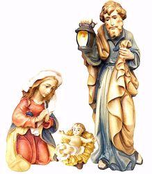 Imagen de Sagrada Familia cm 10 (3,9 inch) Belén Matteo estilo oriental colores al óleo en madera Val Gardena