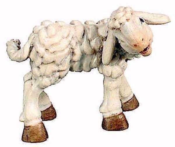 Picture of Lamb cm 12 (4,7 inch) Matteo Nativity Scene Oriental style oil colours Val Gardena wood