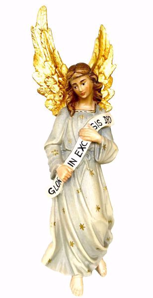 Picture of Angel Gloria cm 12 (4,7 inch) Matteo Nativity Scene Oriental style oil colours Val Gardena wood