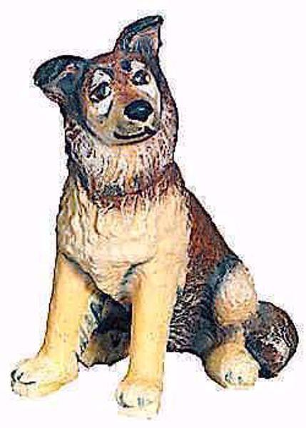Imagen de Perro Pastor cm 12 (4,7 inch) Belén Matteo estilo oriental colores al óleo en madera Val Gardena